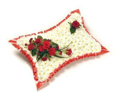 Based Pillow-Red & White