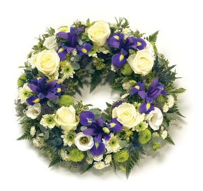 Wreath-Blue & White