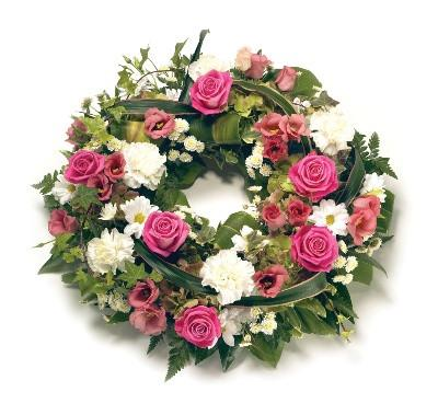 Wreath-Pink & White