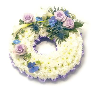 Based Wreath-LIlac and White