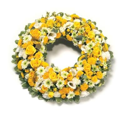 Wreath-Yellow & White